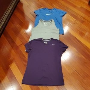 Nike tees shirts tops Bundle large womens